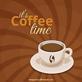 復古咖啡背景