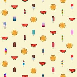 夏天的圖案設計