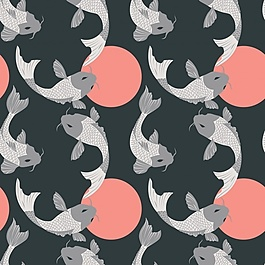 锦鲤图案设计