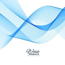 蓝色抽象背景波效应