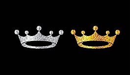 金色和银色的皇冠标志