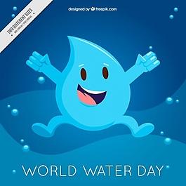 快乐水世界滴日背景