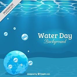 世界水日背景