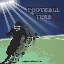 美式橄欖球的背景