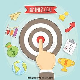 業務和目標圖標背景