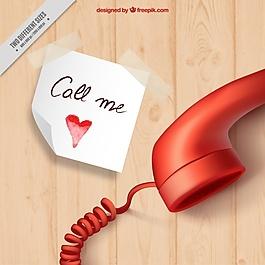 現實背景與情人節的說明和電話