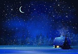 安靜的雪夜背景