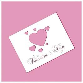 粉红色的情人节卡片