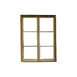 手绘木质窗户元素