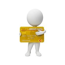 手绘银行卡小人元素