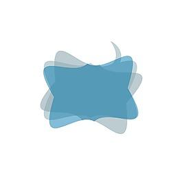 手繪藍色立體元素