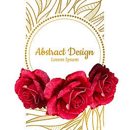 红色玫瑰花插画