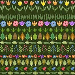 五颜六色的花的背景