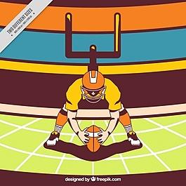 背景:美式足球插圖