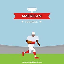 美式足球運動員的平面背景