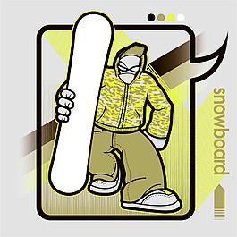滑板运动插画图片