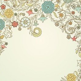 老式花背景