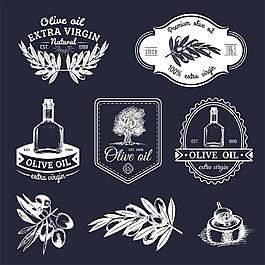 黑白橄欖油標志圖片