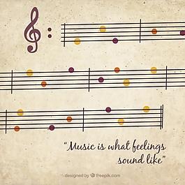 音乐背景与复古风格的色彩细节
