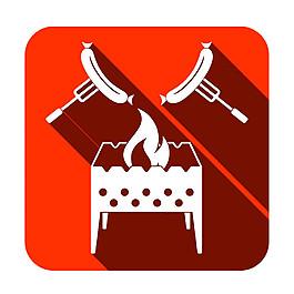 烤肠按钮图标图片