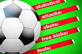 红色标签足球图片
