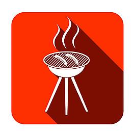 烤香腸圖標圖片