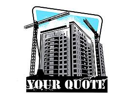 塔吊城市插畫圖片