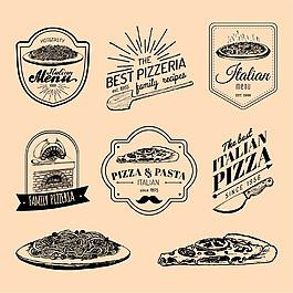 面條披薩標志圖片