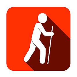 攀山运动人物图标图片