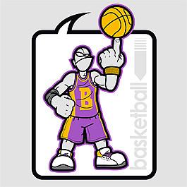 卡通籃球運動員圖片