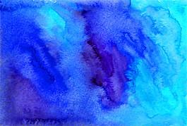 藍色暈染水墨圖片