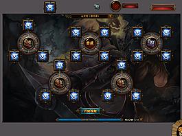游戏探险界面UI