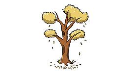 手繪卡通樹