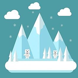 北极背景设计