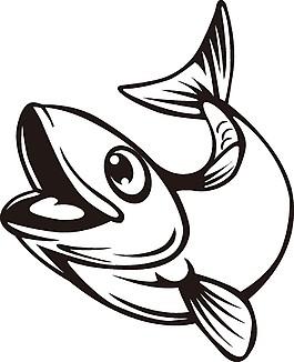 鱼插画矢量图