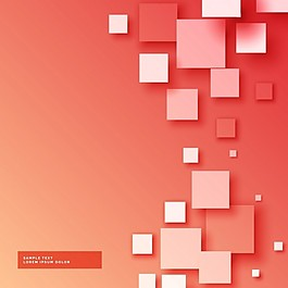 红色背景与正方形