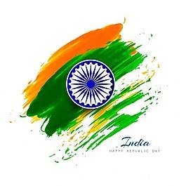印度共和国艺术水彩日