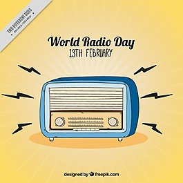 世界无线电日背景