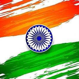 印度共和国日,背景与水彩飞溅