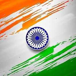 印度共和国日,用水彩艺术背景