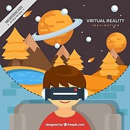 虚拟景观的背景