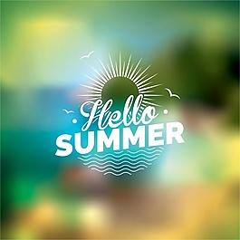 夏天的背景設計