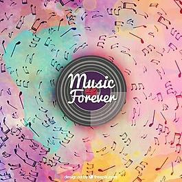 水彩背景音樂音符