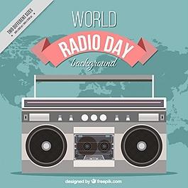世界无线电日设计背景