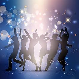 人们在盛大的舞会上跳舞