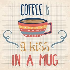 關于咖啡的漂亮手繪背景