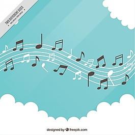 五角星的背景注释和云