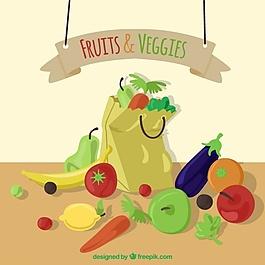 健康食品購物背景