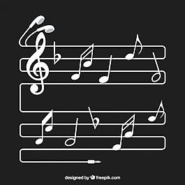 五角星的背景注释和耳机