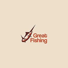 米色背景的鱼标识